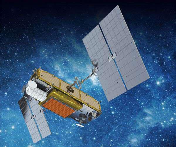 Impresíon artística de un Iridium NEXT en órbita