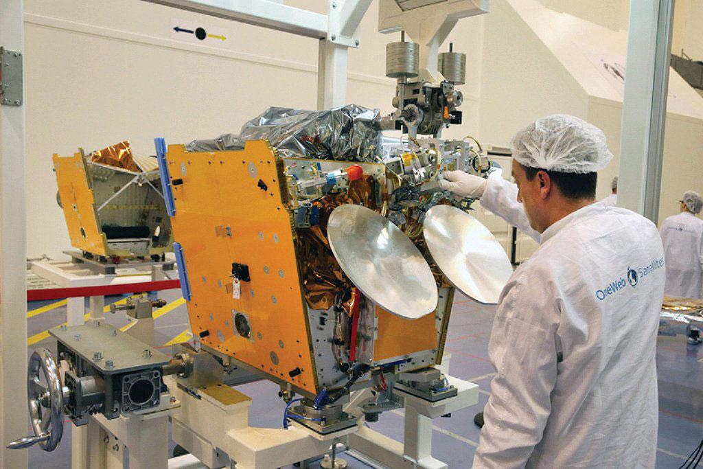 Uno de los satélites OneWeb