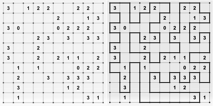 Slitherlink: un pasatiampo de lógica, números y dibujar líneas con paciencia
