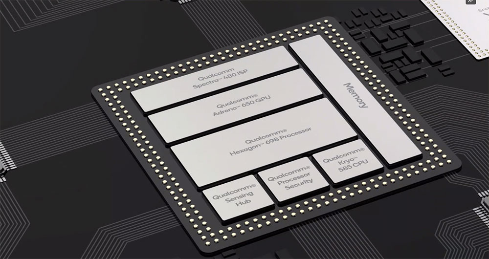 Componentes internos del Snapdragon 865