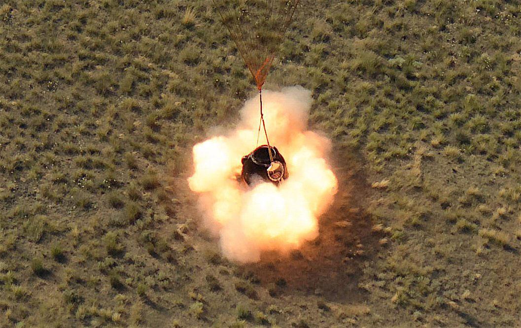 Aterrizaje de la Soyuz MS-11