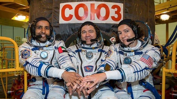 La tripulación de la Soyuz MS-15