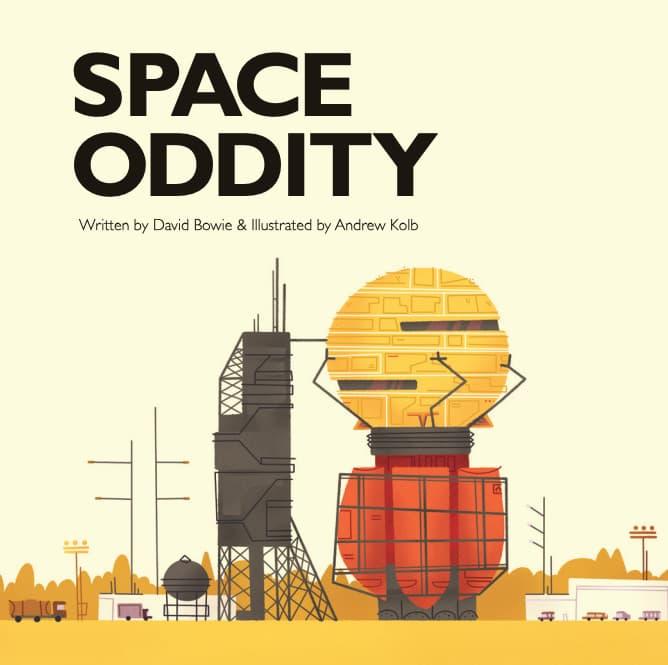 Space Oddity, de David Bowie, en cómic para niños (o no tanto)
