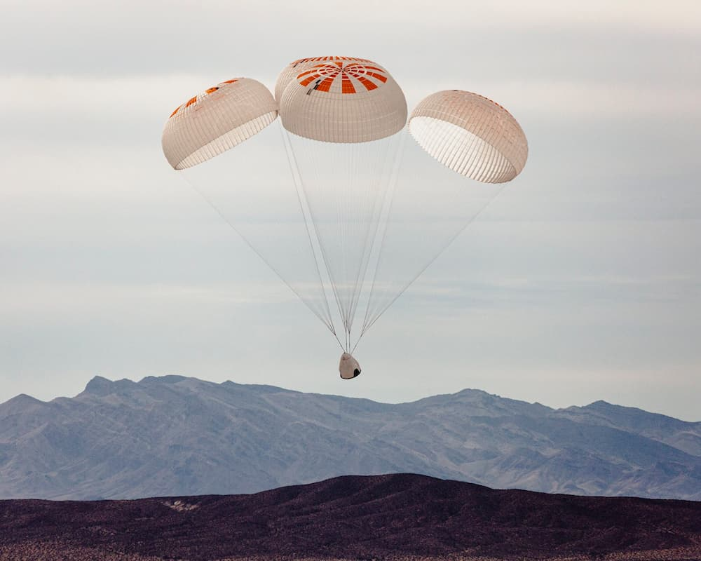 Décima prueba consecutiva con éxito de los paracaídas Mk. 3