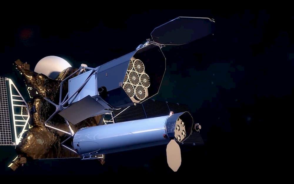 Impresión artística del Spektr-RG en el espacio