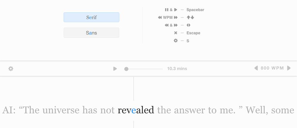 Squirt.Io - Otra forma de leer todo tipo de textos, supuestamente a más velocidad