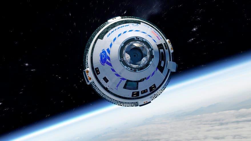 Impresión artística de una Starliner en órbita