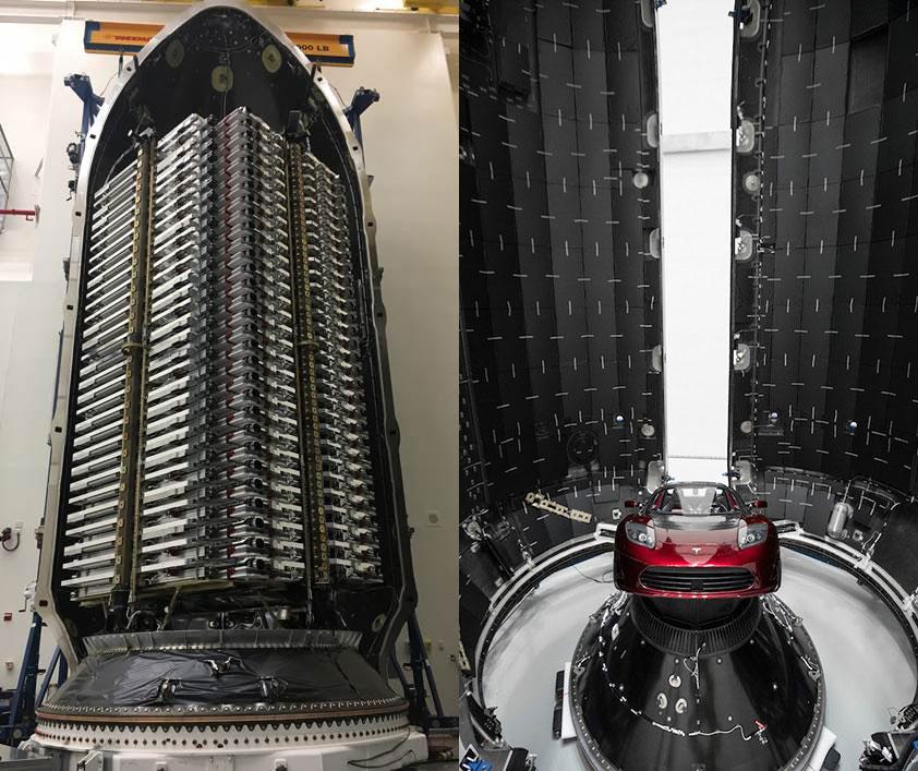 Los satélites antes de cerrar la cofia