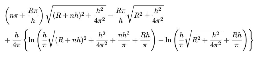 Longitud Rollo Papel, fórmula 4