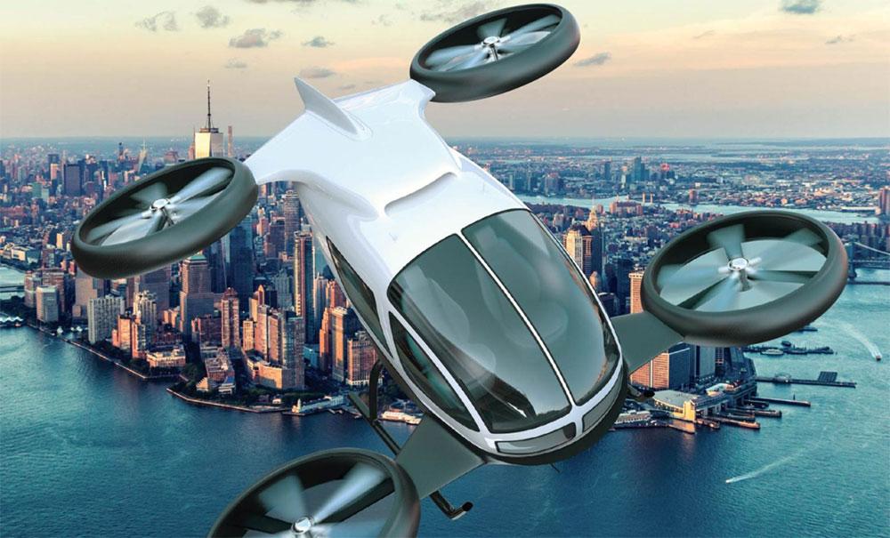Un aerotaxi del futuro quizás no muy lejano