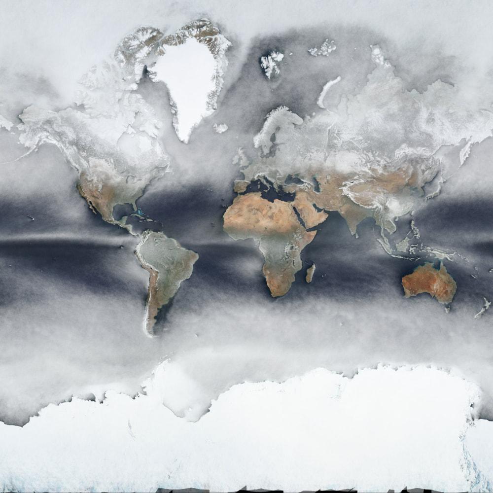 Una imagen promediada de la superficie terrestre durante un año