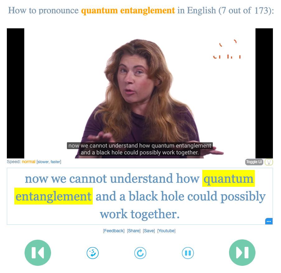 YouGlish: aprender inglés con ejemplos en vídeo y pronunciación en contexto