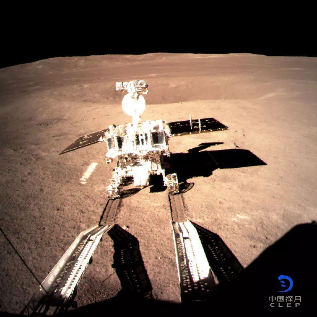 Yutu 2 en la superficie de la Luna