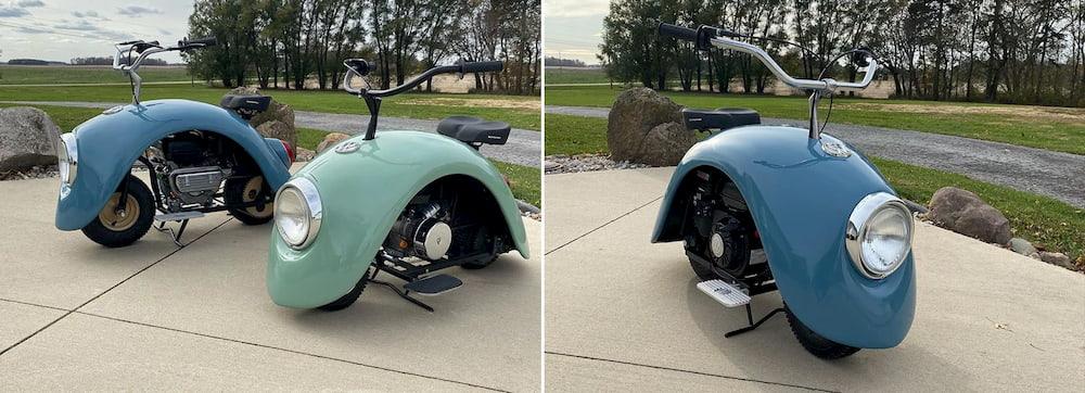 La «Volkspod» es una minimoto construida con piezas de un escarabajo Volkswagen / Designboom