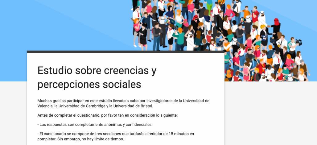Encuesta: estudio sobre creencias y percepciones sociales