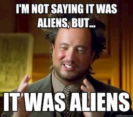 No diré que fueran alienígenass… pero ERAN ALIENÍGENAS