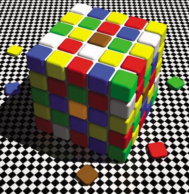 Lotto Cube / Mighty Optical Illusions