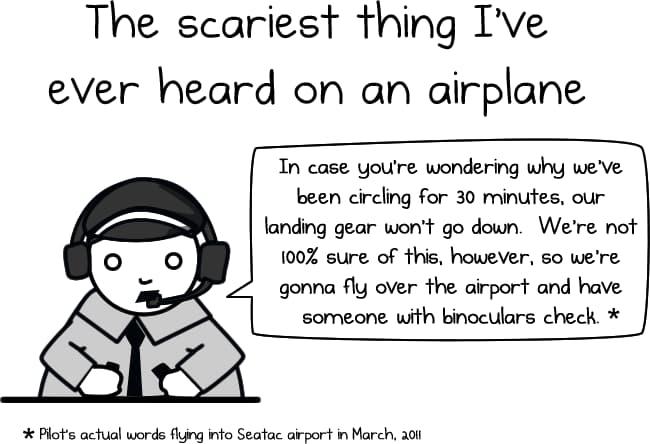 Cosas tristes (y raras, y acongojantes) que se pueden oir en un avión / The Oatmeal