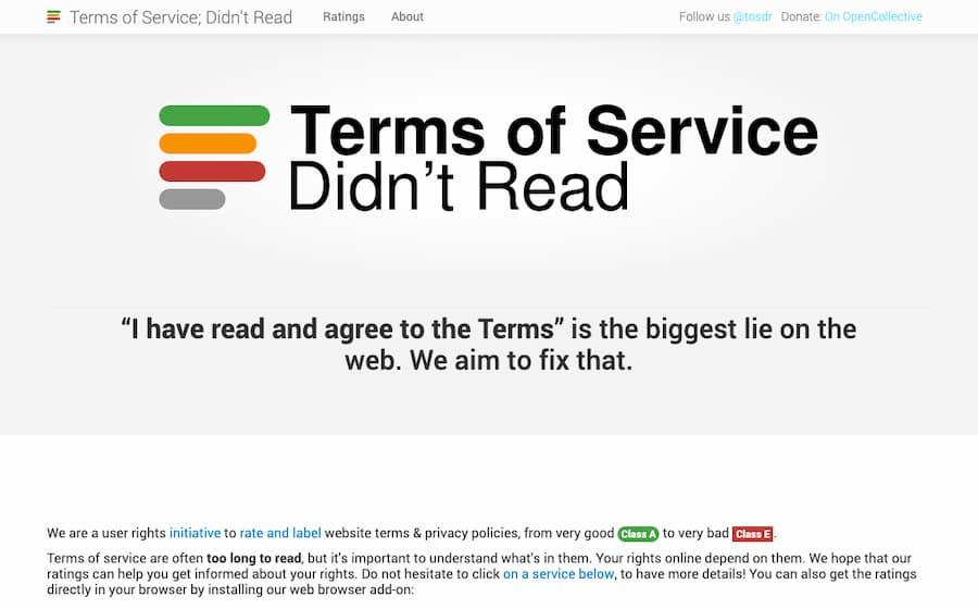 TOSDR: «No, no me he leído las condiciones del servicio porque nadie se las lee»