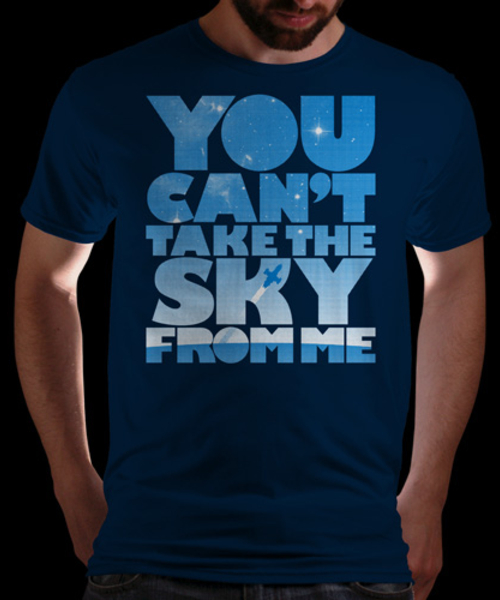 Una elegante camiseta de Firefly / You Can't Take the Sky From Me