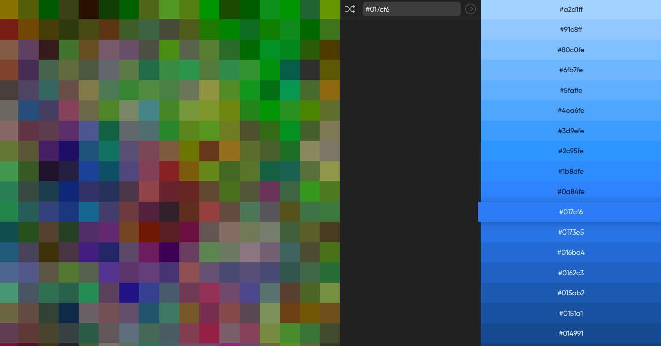 De 0 a 255 colores