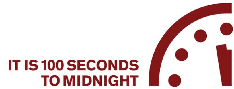 Doomsday clock 2020: 100 seconds