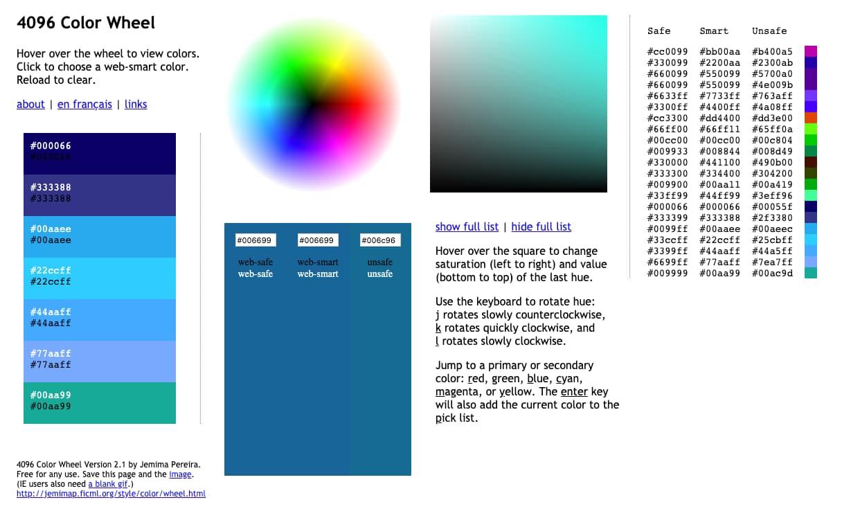 Una paleta de 4096 colores