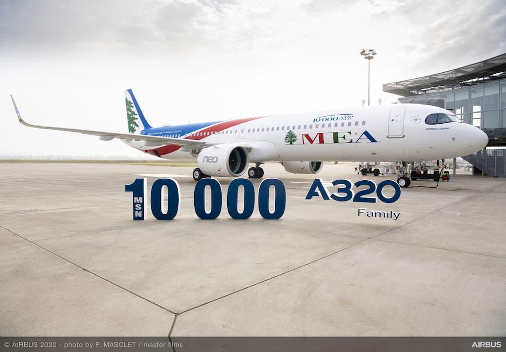 El avión durante la ceremonia de entrega – Airbus / P. Masclet / Master Films