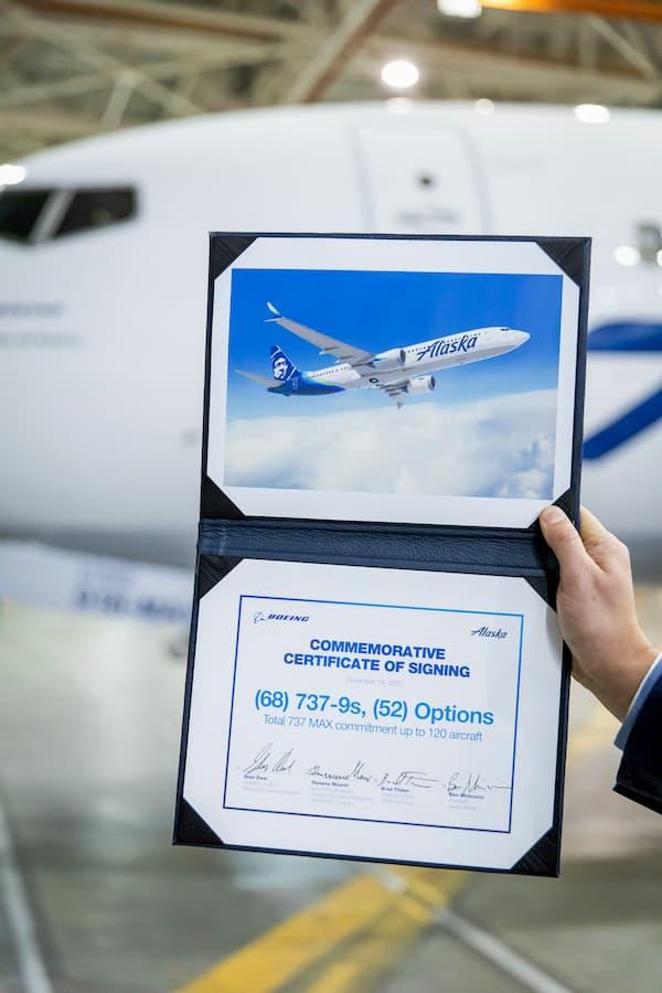 Certificado conmemorativo del acuerdo de compra – Boeing