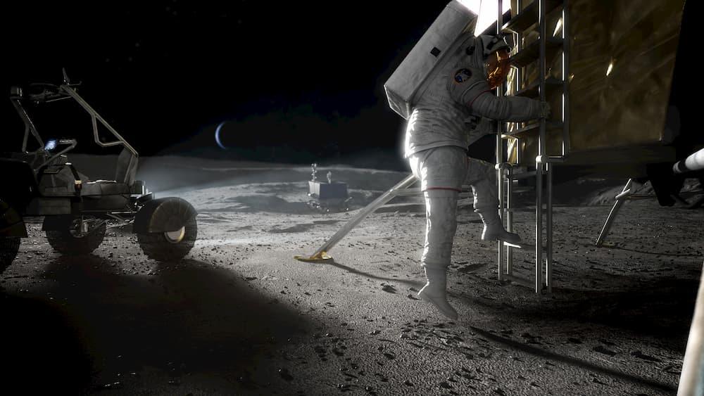 Astronauta de la NASA sobre la Luna – NASA