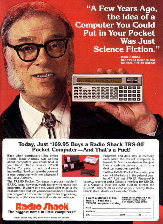 Isaac Asimov y la TRS-80