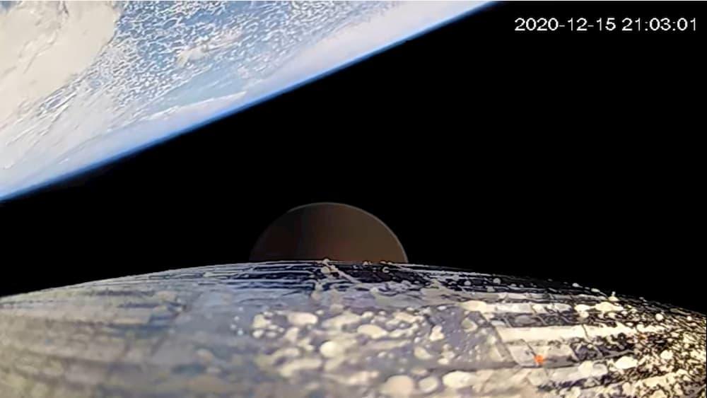 La Tierra vista desde la segunda etapa del Rocket 3.2 – Astra
