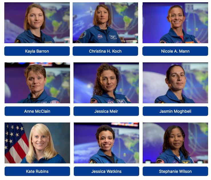 Mujeres astronauta del programa Artemisa – NASA