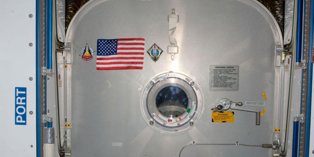 La bandera del Atlantis – NASA