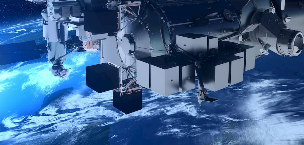 Impresión artística de Bartolomeo en el exterior de la EEI – SpaceX