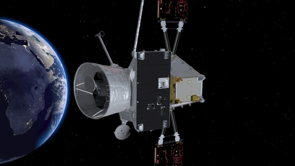 Impresión artística de la BepiColombo sobrevolando la Tierra – ESA