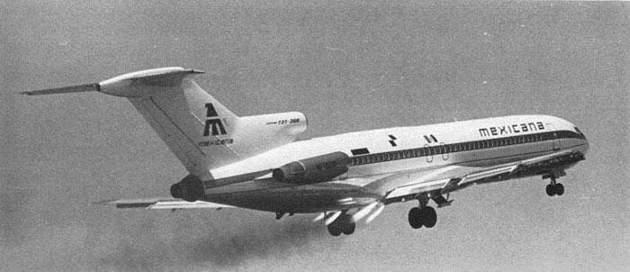 Uno de los Boeing 727 de Mexicana con cohetes – Boeing