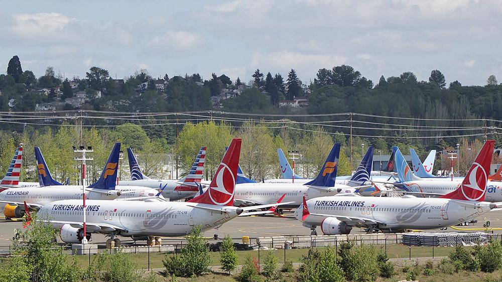 Boeing 737 MAX aparcados en Boeing Field – SounderBruce