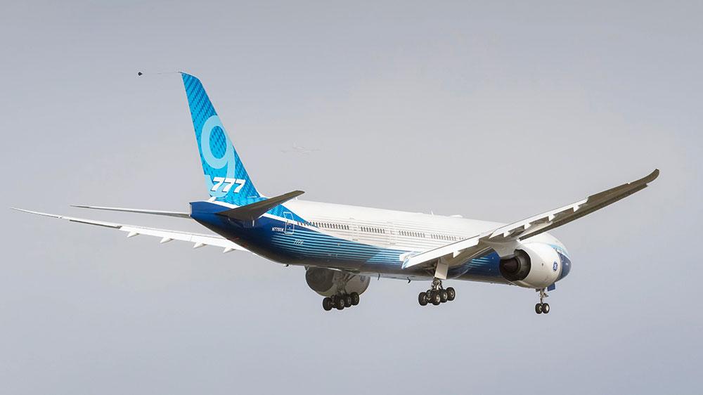El primer 777X a punto de aterrizar - Boeing