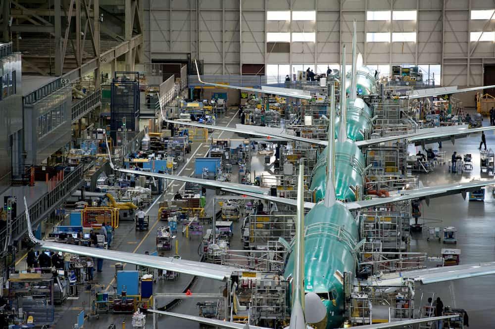 Boeing 737NG en construcción en la planta de Renton - Boeing