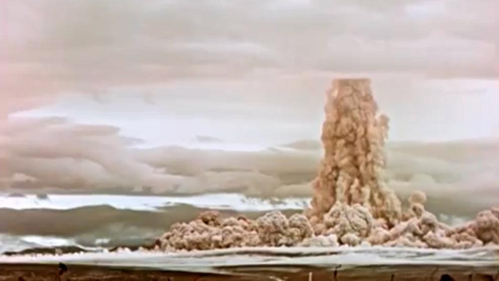 Primeros instantes tras la explosión – Rosatom