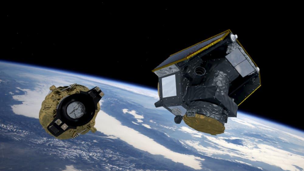 Impresión artística de la separación de Cheops de su lanzador - Arianespace