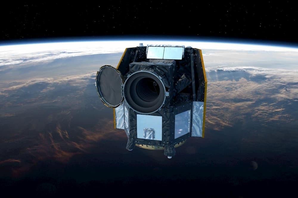 Impresión artística de Cheops en órbita – ESA / ATG medialab