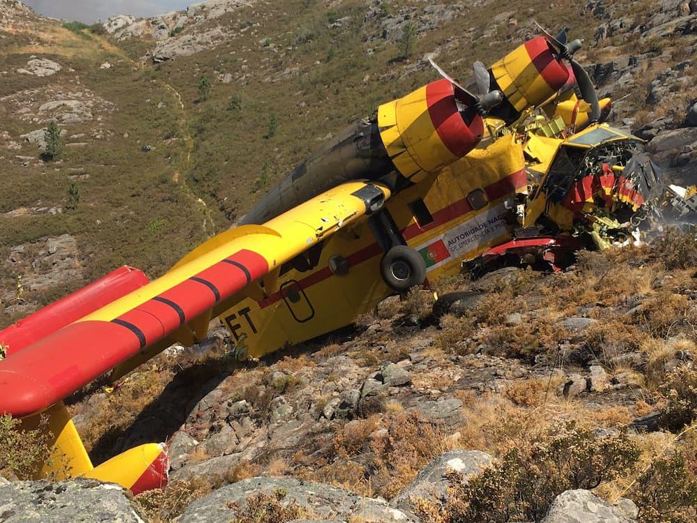 Accidente de un hidroavión apagaincendios en Ourense