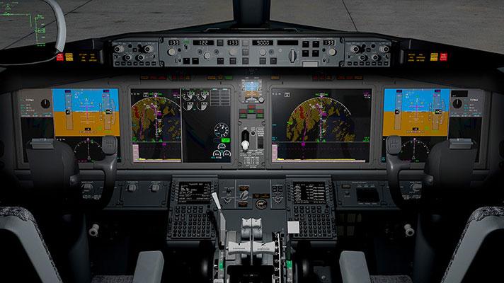 Cabina de un 737 MAX - Boeing
