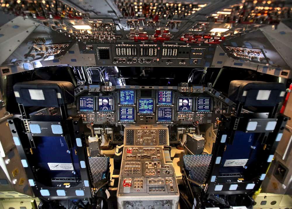 La cabina del Endeavour en 2012 – CC Steve Jurvetson