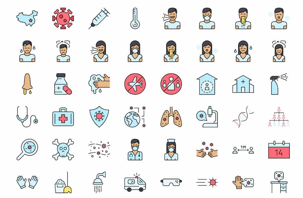 49 Free Coronavirus Icons
