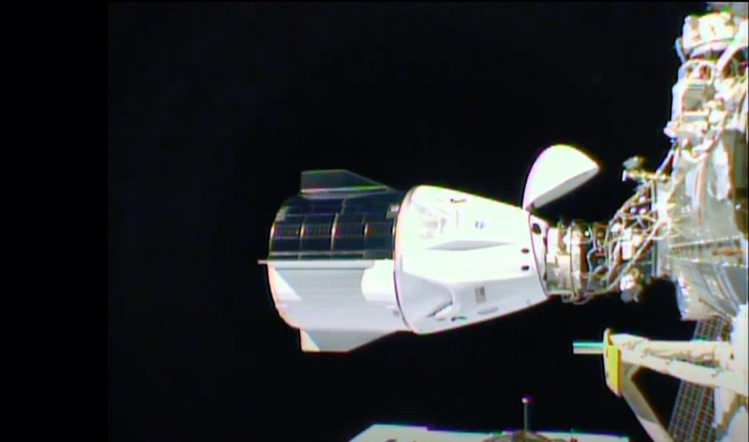 La Resilience atracada en la EEI – NASA