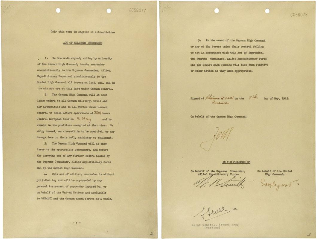 Acta de rendición militar de Alemania del 7 de mayo de 1945