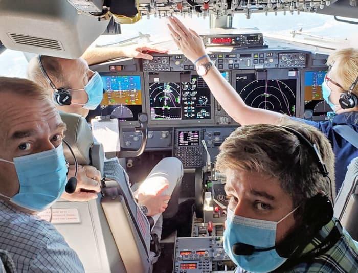 La cabina del 737 MAX usado para los vuelos de prueba de la EASA - EASA